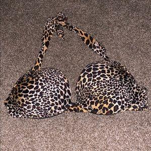 Victoria's Secret swim top. Leopard print.